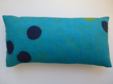 "Kissen ""turquoise dots collection"""