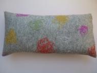 "Kissen ""coloured wool fibres collection"""