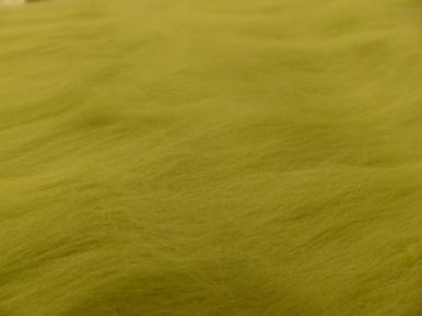 hellgrüne Wolle auslegen und anfilzen