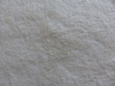 Eine Fläche filzen (Kapmerino naturweiß) und mit Wollfäden (Merinoseidenmischung) dekorieren.