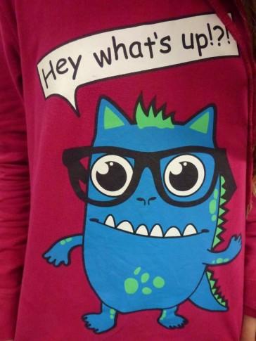 Monster Nr. 8 auf einem T-shirt