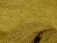 Wollfäden aus der bewährten Seiden-Mohairmischung liegen in zwei Farbtönen auf