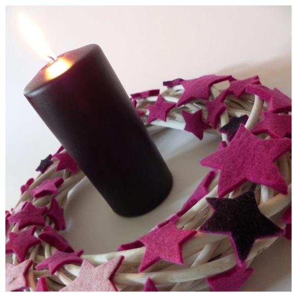 2015.12 Adventskranz pink schwarz